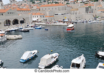 dubrovnik - dobrovnik old city in croatia turistic centar...