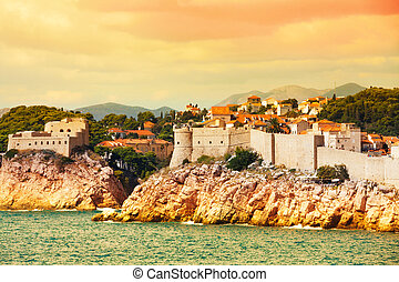 Dubrovnik fortress from the sea