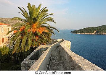 Dubrovnik Fortress Wall Seaview