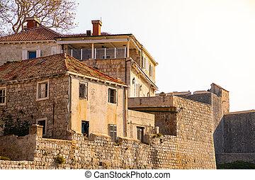 dubrovnik, kroatien, architektur, ansicht
