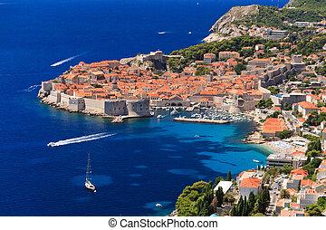 Dubrovnik, medieval town in Croatia