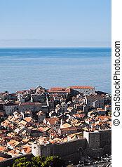 Dubrovnik old town, Croatia, Adriatic sea