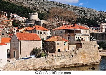 Dubrovnik old town, dalmatian coast of Croatia