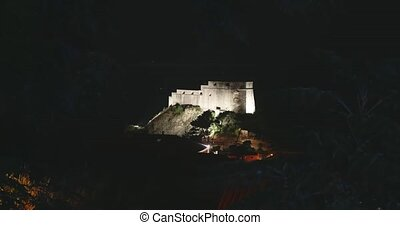 Dubrovnik old town - fortress Lovrijenac by night