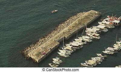 Dubrovnik old town harbor