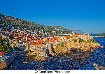 Dubrovnik old town panorama - Dubrovnik old town panoramic ...