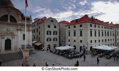Dubrovnik old town panorama with to