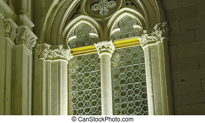 Dubrovnik old town Rector's palace detail with...