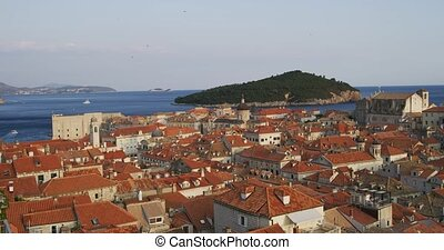 Dubrovnik old town view from the city walls