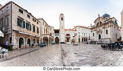 dubrovnik, stradun, pedestrian 通り, croatia, 人気が高い
