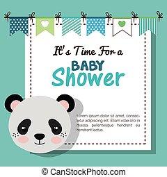 ducha, animal del bebé, disecado, invitación