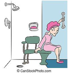 ducha, banco
