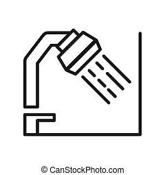 ducha, vector, ilustración, diseño