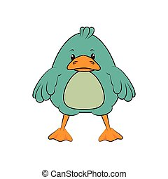 duck animal cartoon