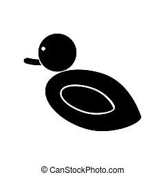 Duck black color icon . - Duck it is black color icon .