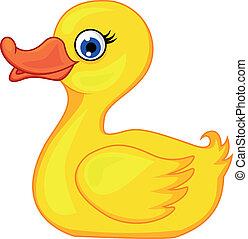 Vector illustration of duck cartoon