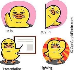 Duck Cartoon Vector Set 2