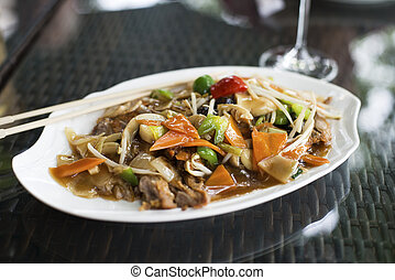 Duck chop suey - Traditional duck chop suey in restaurant...