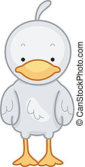 Duck - Illustration of a Cute Little Duck