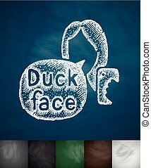 Duck face selfie icon