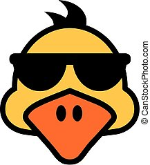 Duck face with sunglasses