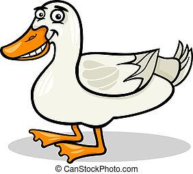 duck farm bird animal cartoon illustration