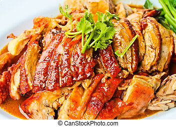 duck, food Chinese style