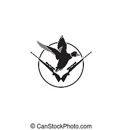 Duck hunt shooting club logo patches.
