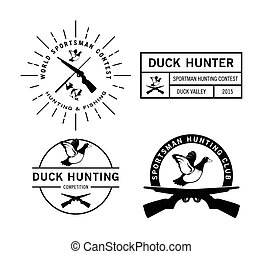 Duck Hunting label badge