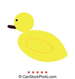 Duck icon . Different color . Simple style .