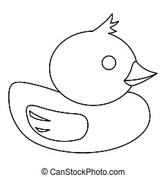 Duck icon in outline style