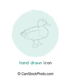 Duck icon line element. Vector illustration of duck icon line isolated on clean background for your web mobile app logo design.