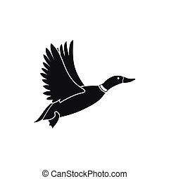Duck icon, simple style
