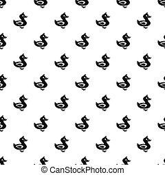 Duck pattern, simple style