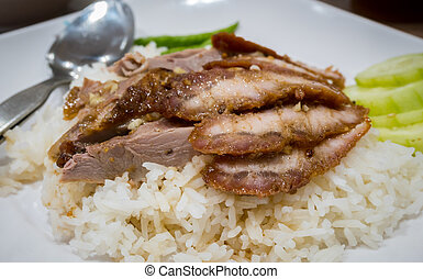 Duck rice in Chinese restaurant