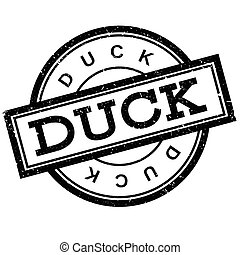 Duck rubber stamp
