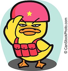 DUCK Soldier Commando CARTOON  VECTOR Set 92