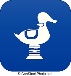 Duck spring see saw icon digital blue for any design ...