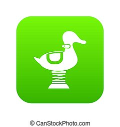 Duck spring see saw icon digital green for any design ...