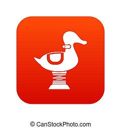 Duck spring see saw icon digital red for any design isolated...