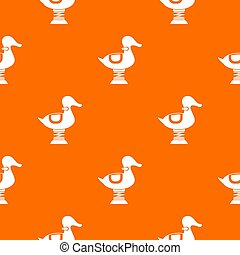 Duck spring see saw pattern seamless - Duck spring see saw...
