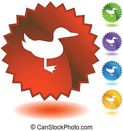 Duck Starburst Icon Set
