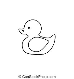 duck toy isolated icon
