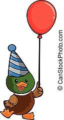 duck using birthday party costume