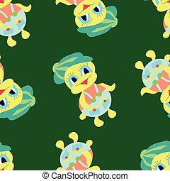 duckling green pattern