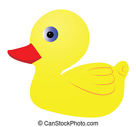 Duckling - Illustration of a yellow duckling on a white...
