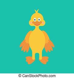 Duckling illustration vector