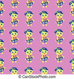 Duckling pink pattern