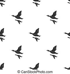 Ducks icon in black style isolated on white background....