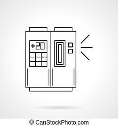 Ducted air conditioning flat line vector icon